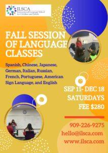 Fall Session of Language Classes