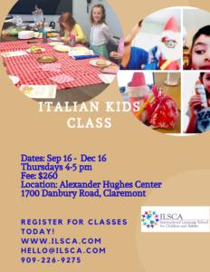 Italian for Kids class